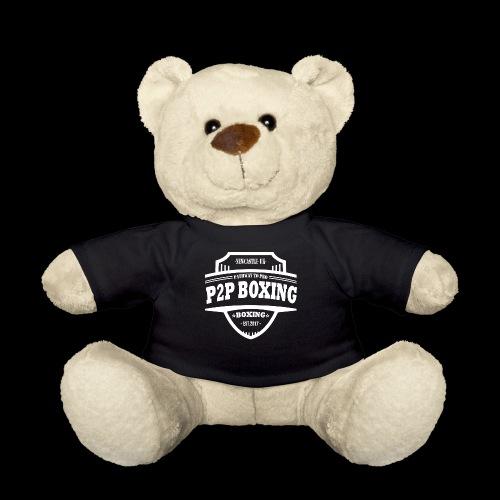 P2P Boxing White Logo - Teddy Bear