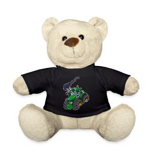 GREEN TRACTOR white border - Teddy
