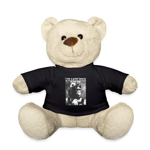 Funny Chimpanzee Old Age Joke Design - Teddy Bear