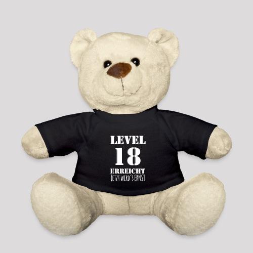 18er Geburtstag - LEVEL 18 ERREICHT - MOTIV - Teddy
