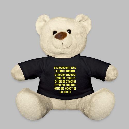 programmierer binärcode geschenk - Teddy
