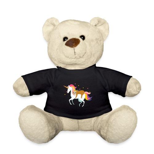 Funny Sloth Riding Unicorn - Teddy