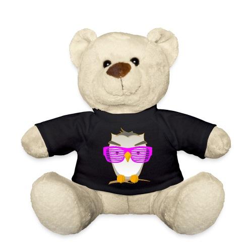 Eule Wald Vogel coole Nerdbrille Geek Big Bang Uhu - Teddy Bear