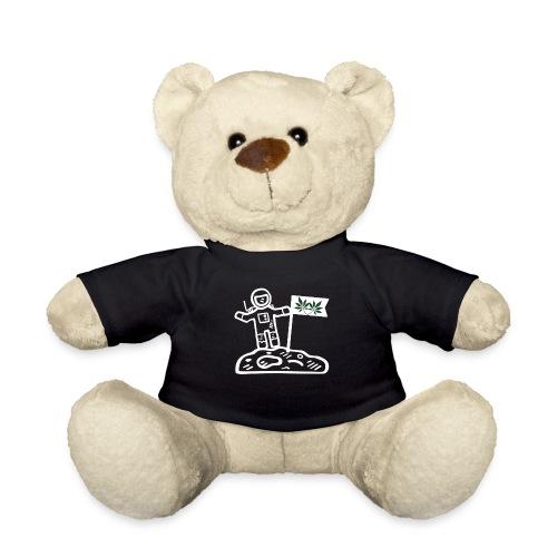 Funny Pot Loving Astronaut on the Moon - Teddy Bear