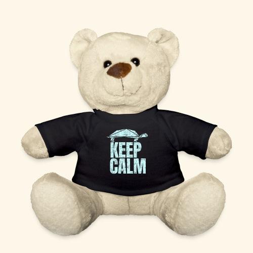 Keep Calm witzige coole Schildkröte kein Stress - Teddy