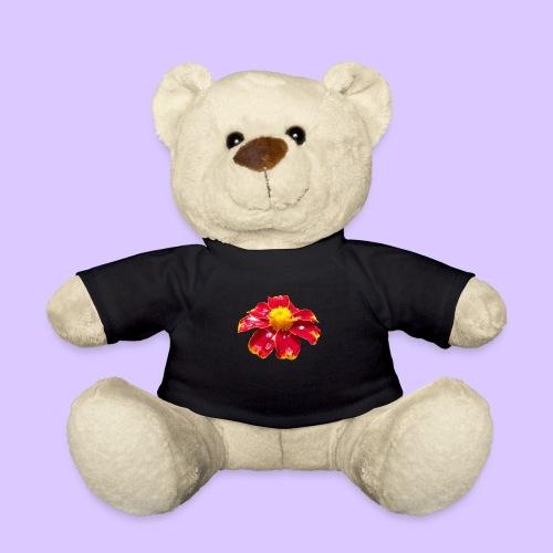 rote Ringelblume mit Regentropfen, Blume, Blüte - Teddy