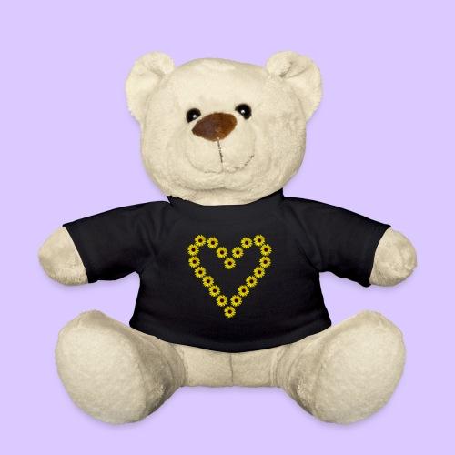 Sonnenblumenherz, Sonnenblumen, Sonnenblume, Herz - Teddy