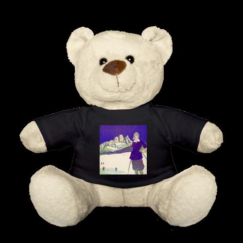 Ski trip vintage poster - Teddy Bear