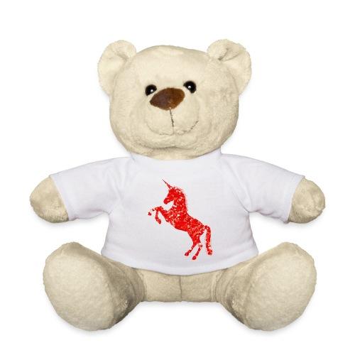 unicorn red - Miś w koszulce