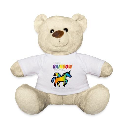 Rainbow Unicorn Proud - Teddy