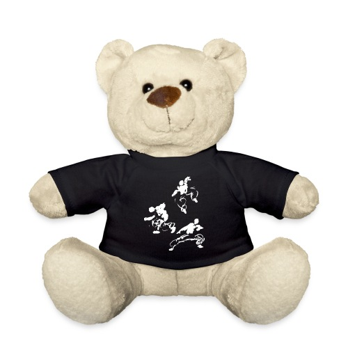 Kung fu circle / ink fighter in motion - Teddy Bear