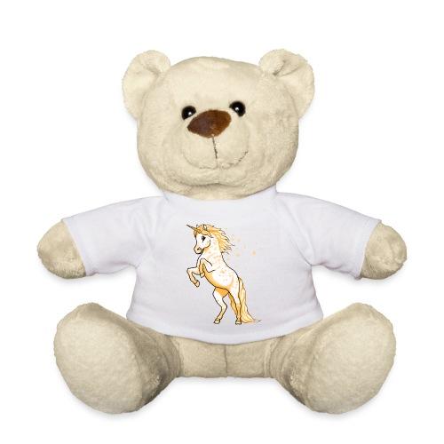 Pünktchen Einhorn Gold - Teddy
