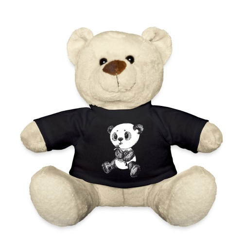 Panda bjørn hvid scribblesirii - Teddybjørn
