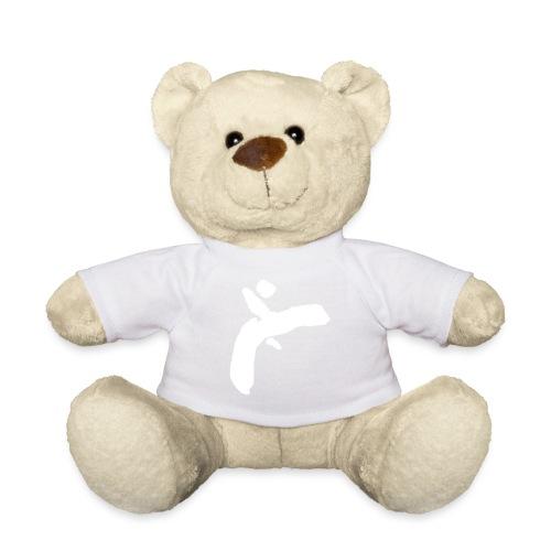 Martial Arts Kick - Slhouette Minimal Wushu Kungfu - Teddy Bear