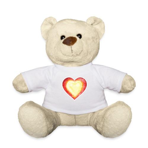 Burning Fire heart - Teddy Bear
