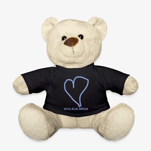 Hjärta med text - Nallebjörn