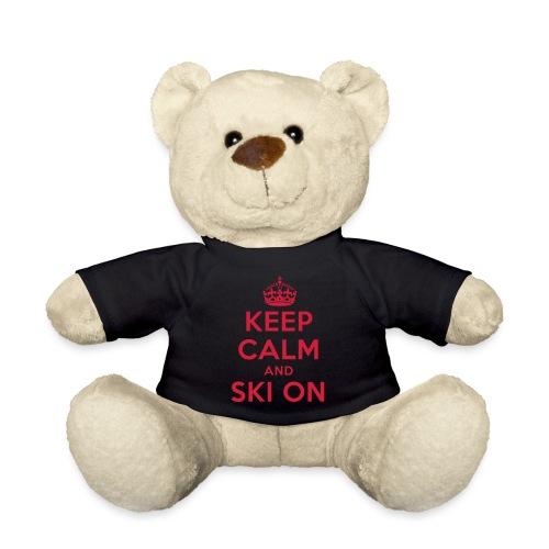 keep calm and ski on - Teddy