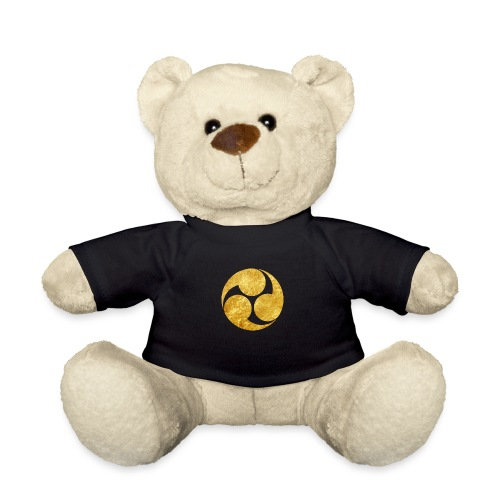 Kobayakawa Mon Japanese clan gold on black - Teddy Bear