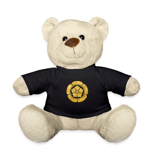 Oda Mon Japanese samurai clan faux gold on black - Teddy Bear