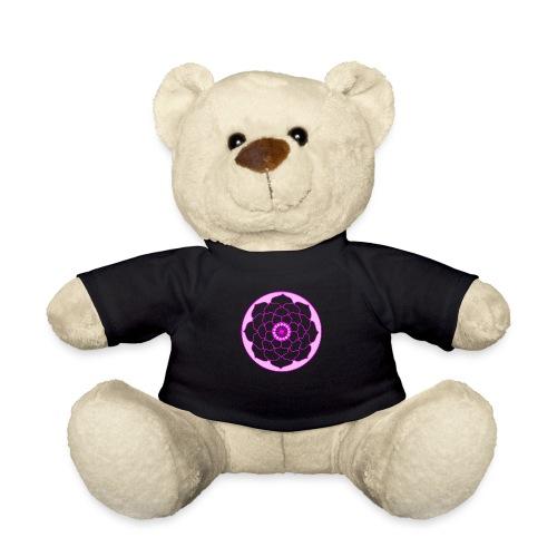 Pink Lotus Flower Mandala - Teddy Bear