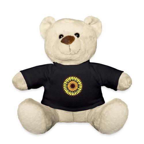 Yellow Sunflower Mandala - Teddy Bear