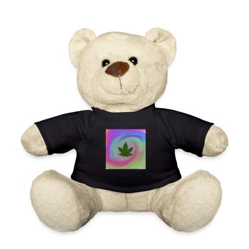 Hanfblatt auf bunten Hintergrund - Teddy