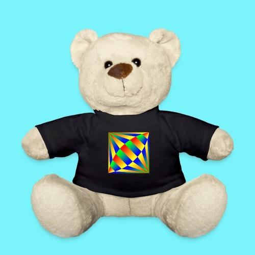 Giant cufflink design in blue, green, red, yellow. - Teddy Bear