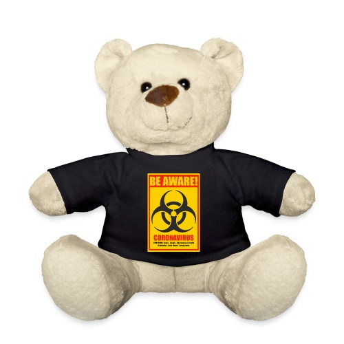 Be aware! Coronavirus biohazard - Teddy Bear