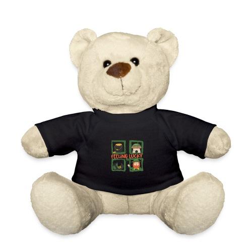 feeling lucky - stay happy - St. Patrick's Day - Teddy Bear