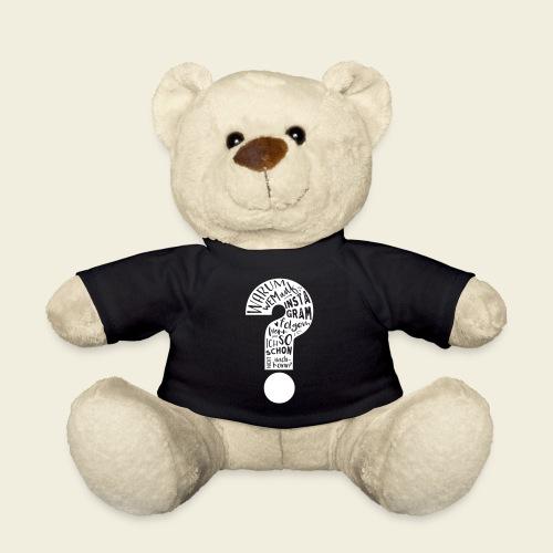 Warum folgen - Design schwarz - Teddy