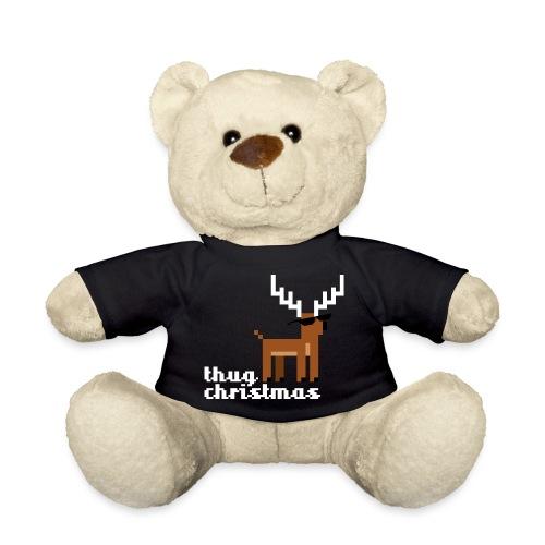 Christmas Xmas Deer Pixel Funny - Teddy Bear