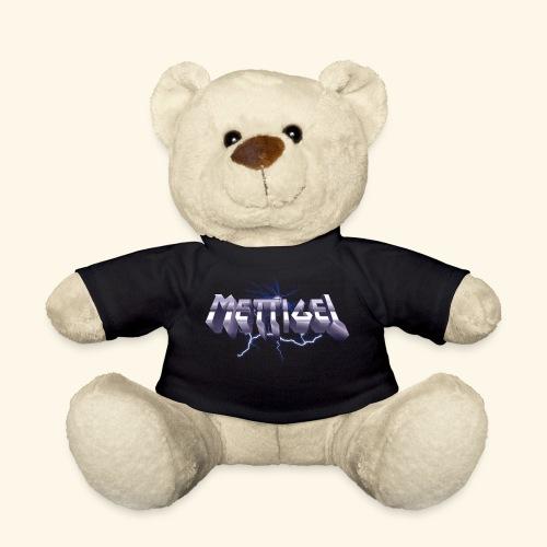 Mettigel T Shirt Design Heavy Metal Schriftzug - Teddy
