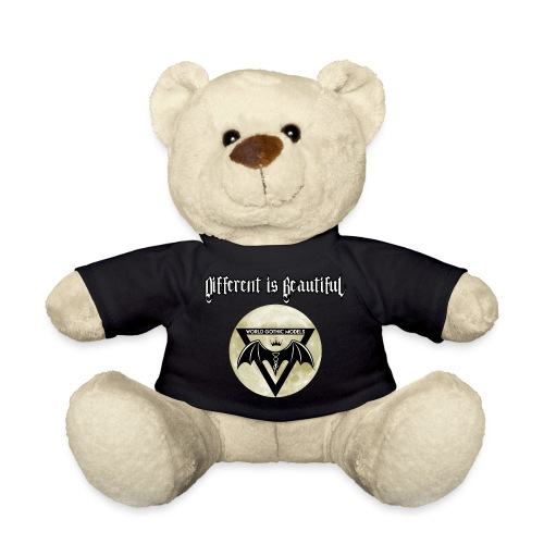 Different is Beautiful with Moon WGM Logo - Teddy Bear