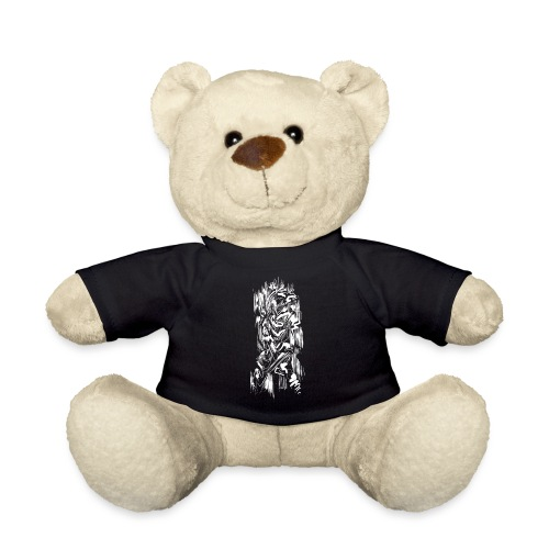 Samurai / White - Abstract Tatoo - Teddy Bear