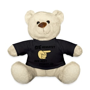Sie heiratet der Rest stürzt ab - JGA T-Shirt - Teddy