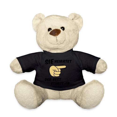 Sie heiratet der Rest stürzt ab - JGA T-Shirt - Teddy