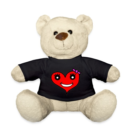 Herz Smiley Schlaufe - Teddy