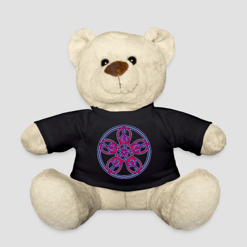 Treble Clef Mandala (red/violet/blue) - Teddy Bear
