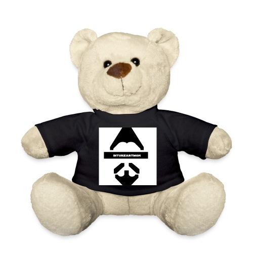 Biturzartmon Logo schwarz/weiss glatt - Teddy
