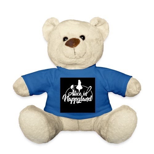 Alice in Nappyland TypographyWhite 1080 - Teddy Bear