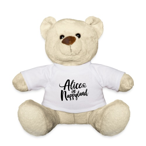 Alice in Nappyland Typography Black 1080 1 - Teddy Bear