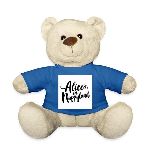 Alice in Nappyland Typography Black 1080 1 - Teddy Bear