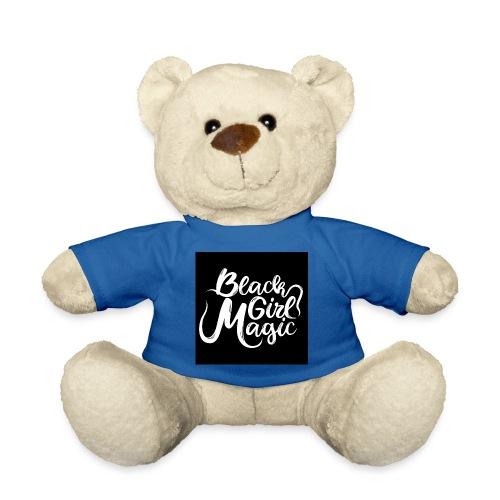 Black Girl Magic 1 White Text - Teddy Bear