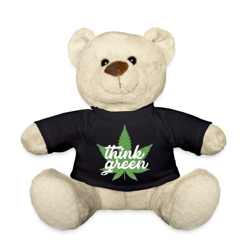 Think Green - smoking weed, cannabis, marijuana - Teddy Bear