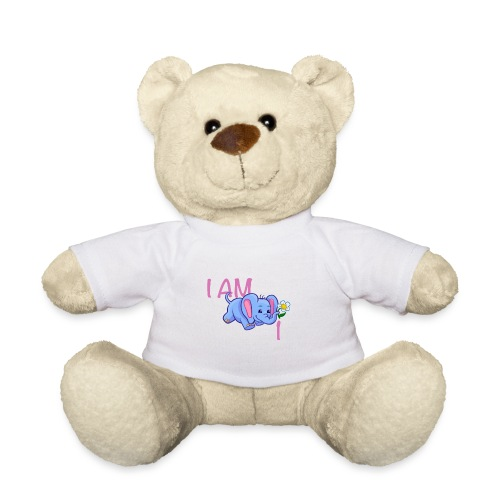 I am 1 - elephant pink - Teddy Bear
