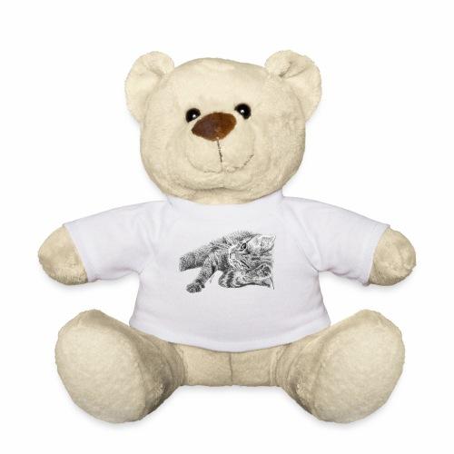 Small kitten in gray pencil - Teddy Bear
