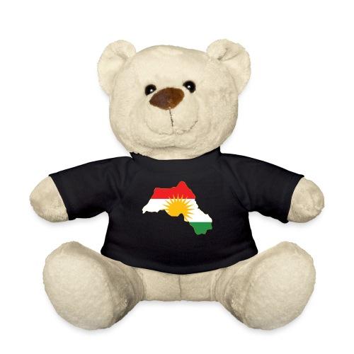 Kurdistan Flag Map - Teddy