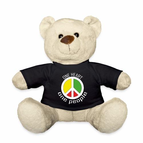 One Heart, One People - Peace - rot, gelb, grün - Teddy