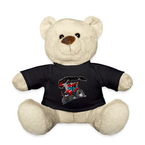 RED TRACTOR white border - Teddy
