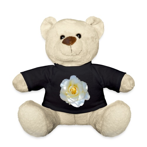 A white rose - Teddy Bear